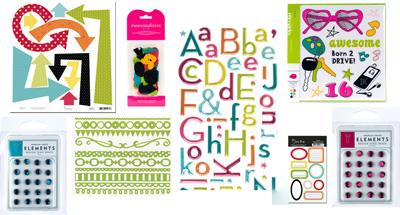 June kit 2 embellishments