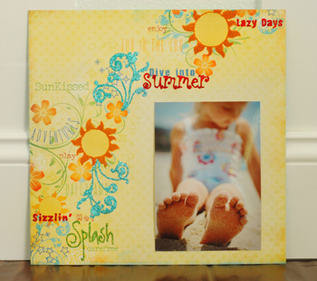 Tammy dive into summer layout