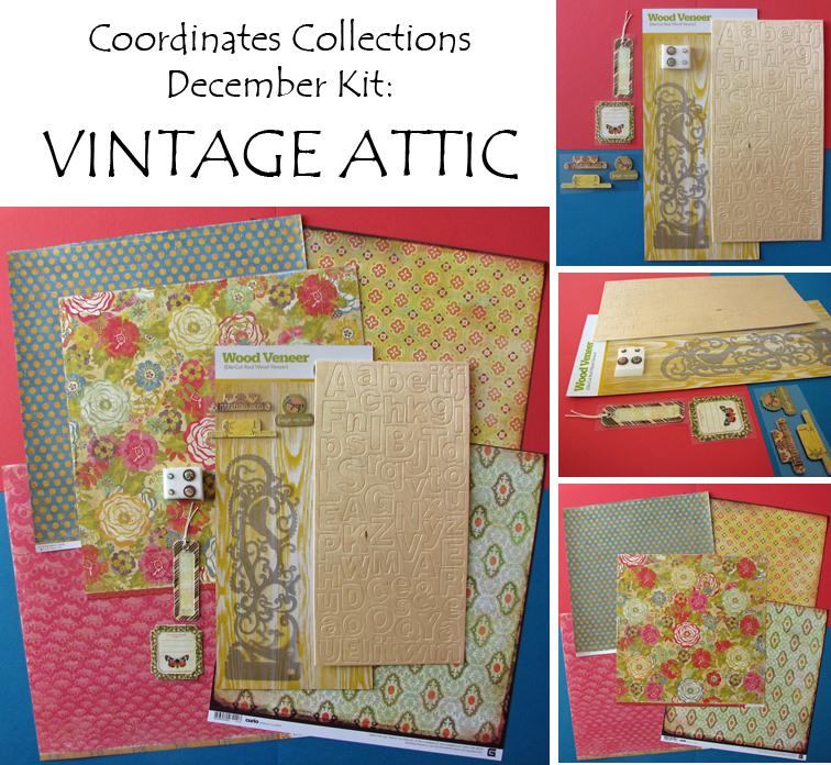 Vintage attic collage