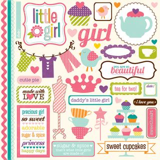 Little girl element stickers