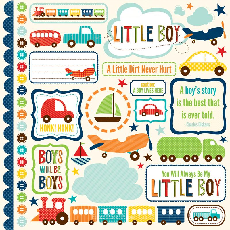Little Boy Elements Stickers