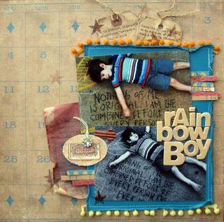 Vintage rainbow boy
