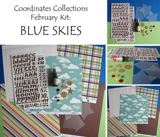 Blue skies collage