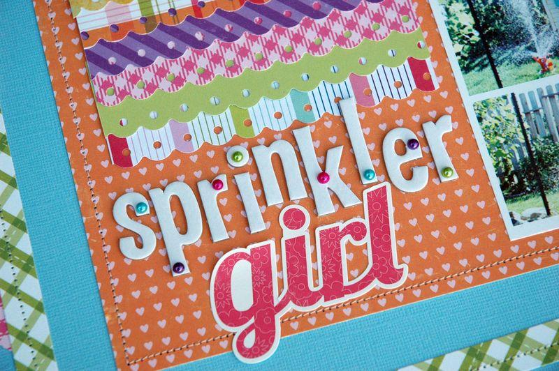 Sprinkler Girl LO Detail